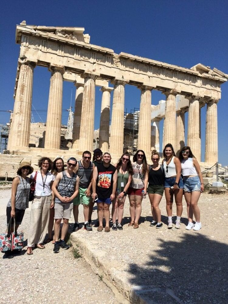 Shenandoah Performing Arts Leadership Students in Greece