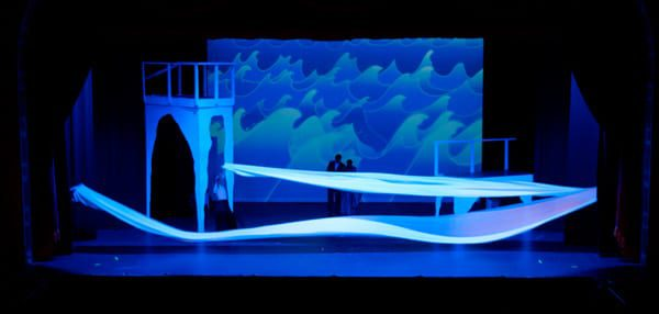 What a beautiful set created by Jason Kaufman, Set Designer, and Aaron Nicolas, Technical Director.