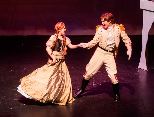 Princess Anna is dancing with Hans, played by Drew Owens. Is this true love?
