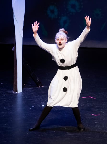 Roles can't get much more fun than this one! Madison Kearney as Olaf!