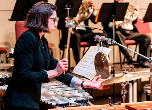 The percussion section of an orchestra is the most versatile of all of the sections. There really is no limit to the instruments they could play - from the snare drum to a kazoo!
