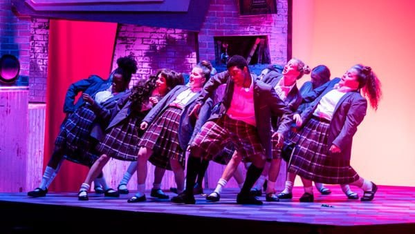 Many of the scenes from Matilda revolve around experiences at school. This is a scene with her classmates. These young actors, singers and dancers are tight!